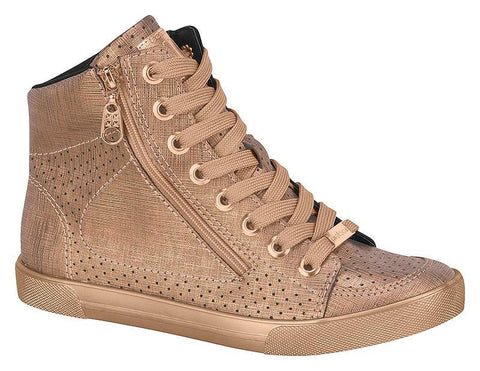 Moleca 5616-102 High Top Sneaker in Dusty Pink
