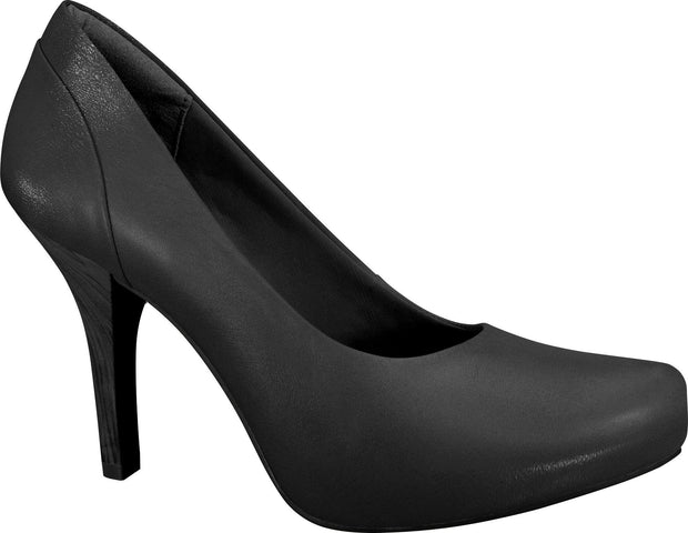 Ramarim 13-23101 Mid Heel Leather Pump in Black
