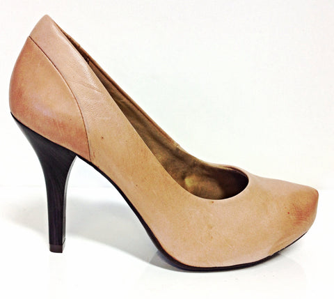Ramarim 13-23101 Mid Heel Leather Pump in Caramel