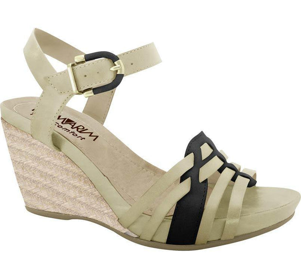 Ramarim Leather Wedge 14-12205 Almond Black