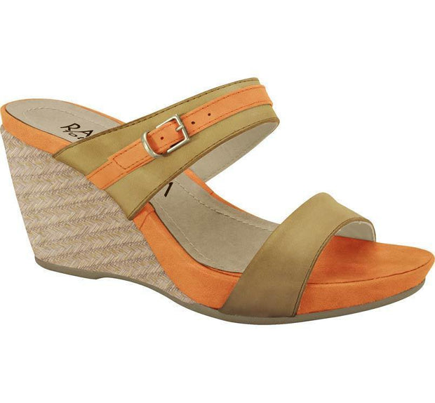Ramarim Leather Wedge 14-12207 in Castor Orange Wedges Ramarim
