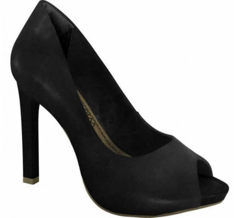 Ramarim 14-22201 Classic High Heel Peeptoe in Black Napa
