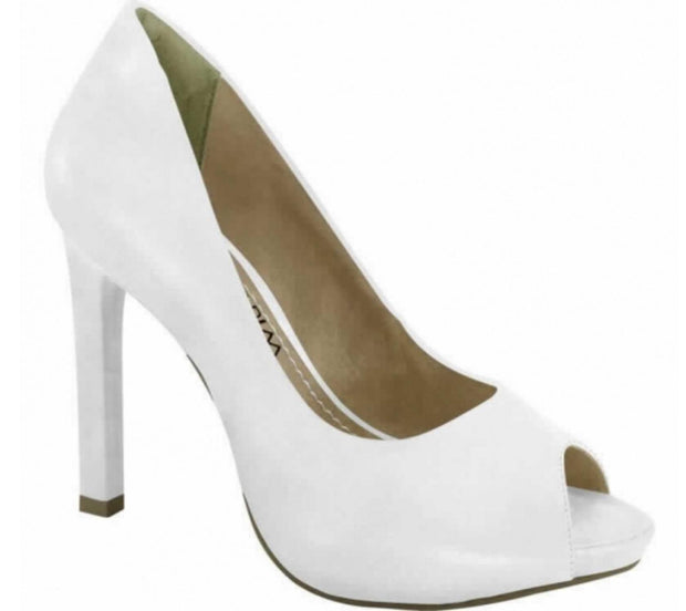 Ramarim 14-22201 Classic High Heel Peeptoe in White Napa