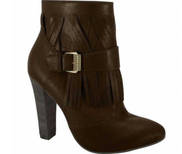 Ramarim Fringed Ankle Boot 14-76136 in Brown