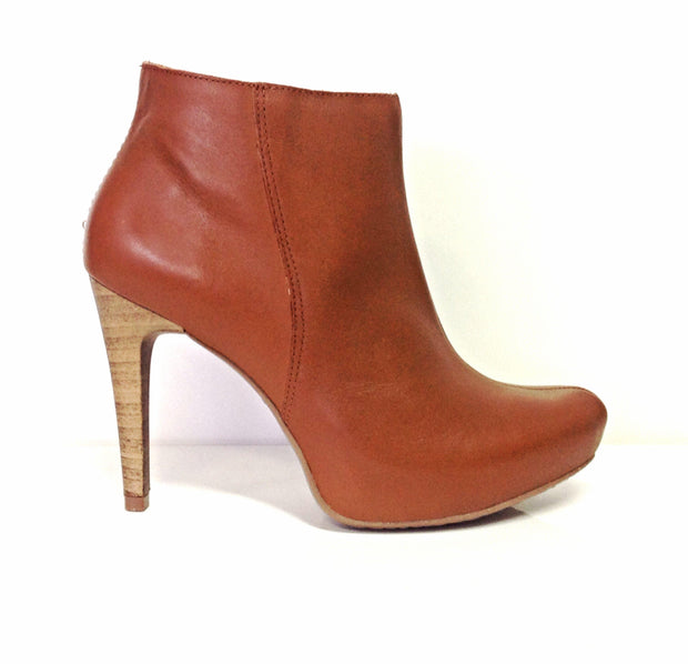 Ramarim 14-79101 High Heel Ankle Boot in Caramel