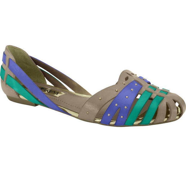 Ramarim 14-88204 Flat in Chocolate / Green / Blue