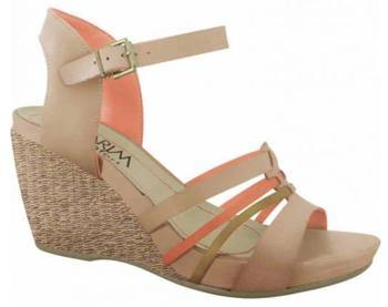 Ramarim Strappy Wedge 15-12205 in Caramel Wedges Ramarim