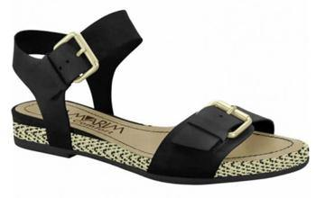 Ramarim 15-15207 Flat Leather Sandal in Black Napa