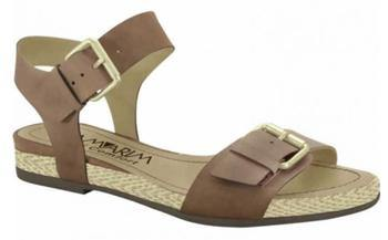 Ramarim 15-15207 Flat Leather Sandal in Brown Napa