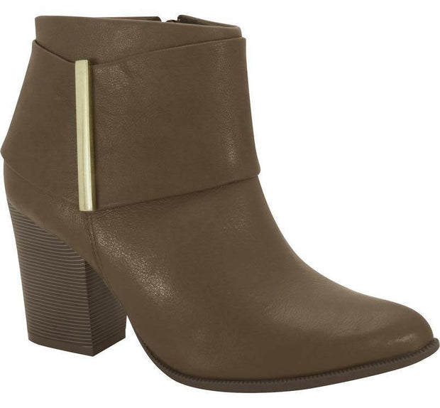 Ramarim 15-16101 Brown Ankle Boot with Block Heel