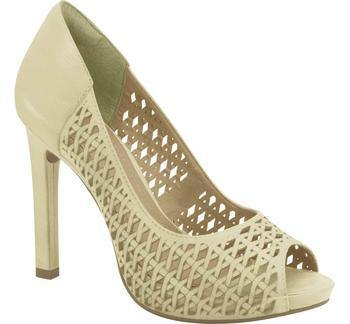 Ramarim High Heel Peeptoe with Cutouts 15-22253 in Almond Heels Ramarim