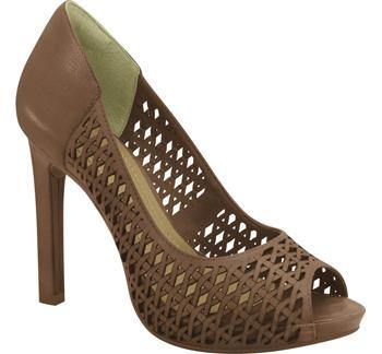 Ramarim High Heel Peeptoe with Cutouts 15-22253 in Brown Heels Ramarim