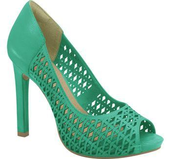 Ramarim High Heel Peeptoe with Cutouts 15-22253 in Green