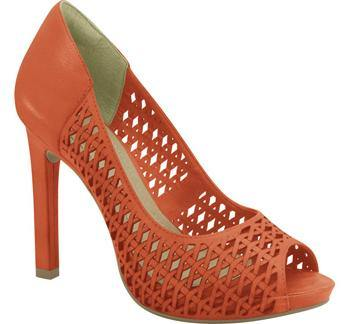 Ramarim High Heel Peeptoe with Cutouts 15-22253 in Orange