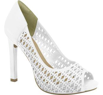 Ramarim High Heel Peeptoe with Cutouts 15-22253 in White