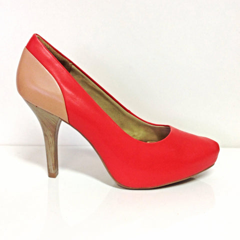 Ramarim 15-23251 Mid Heel Pump in Red / Hazel