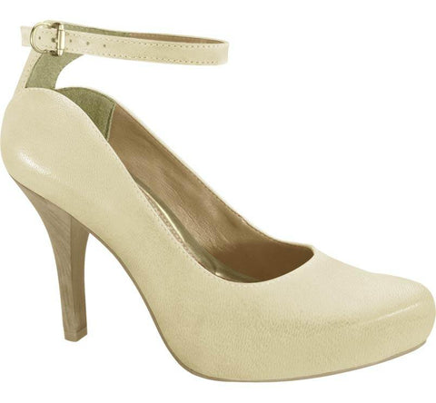 Ramarim 15-23253 Mid Heel Pump in Almond