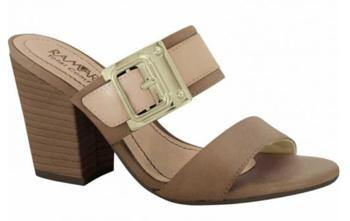 Ramarim 15-41201 Block Heel Slip-on Sandal in Brown / Hazel Leather