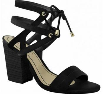 Ramarim 15-41204 Block Heel Strappy Sandal in Black Napa