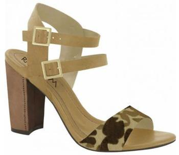 Ramarim 15-50203 Block Heel Sandal in Caramel / Brown