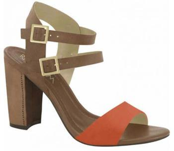 Ramarim 15-50203 Block Heel Sandal in Orange / Brown
