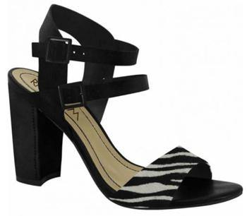 Ramarim 15-50203 Block Heel Sandal in Black / Zebra