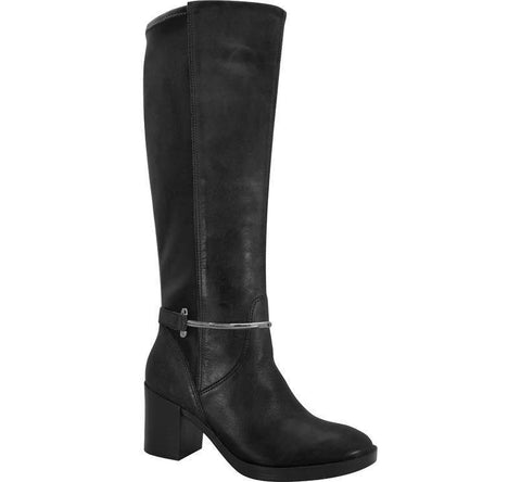 Ramarim 15-51102 Leather Boot with Lycra Back in Black