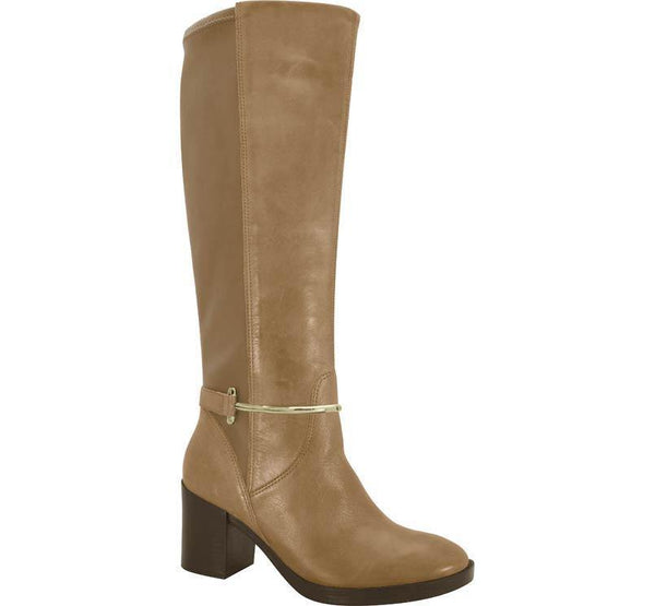 Ramarim 15-51102 Leather Boot with Lycra Back in Caramel