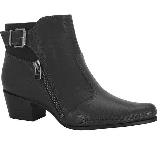 Ramarim 15-57102 Low Heel Ankle Boot in Black
