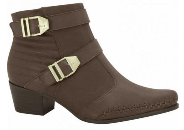 Ramarim 15-57107 Low Heel Ankle Boot in Brown