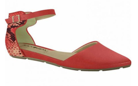 Ramarim 15-84203 Red Pointy Toe Flat in Red