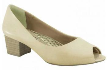 Ramarim 15-92203 Low Heel Peeptoe in Almond