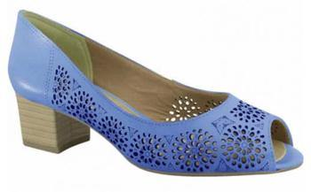 Ramarim 15-92204 Low Heel Peeptoe with Lazor Cut-outs in Blue