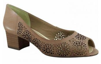 Ramarim 15-92203 Low Heel Peeptoe with Lazor Cut-outs in Brown