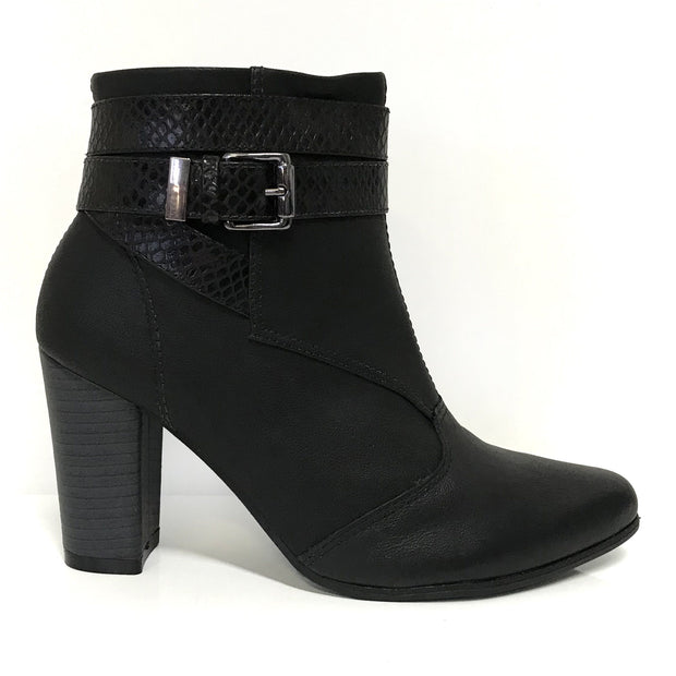 Ramarim 16-15132 Block Heel Ankle Boot in Black