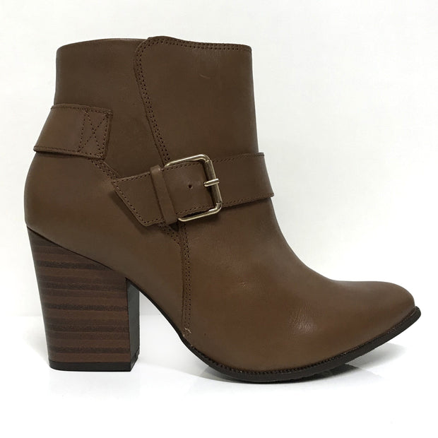 Ramarim 16-16151 Block Heel Ankle Boot in Brown Napa