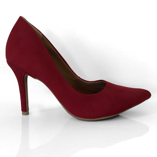Ramarim 16-23151 Pointy Toe Pump in Cabernet Nobuck