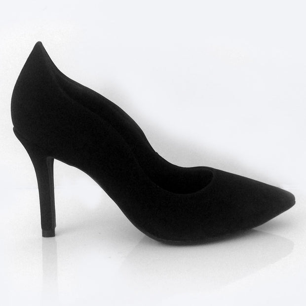Ramarim 16-23152 Pointy Toe Pump in Black Nobuck Heels Ramarim