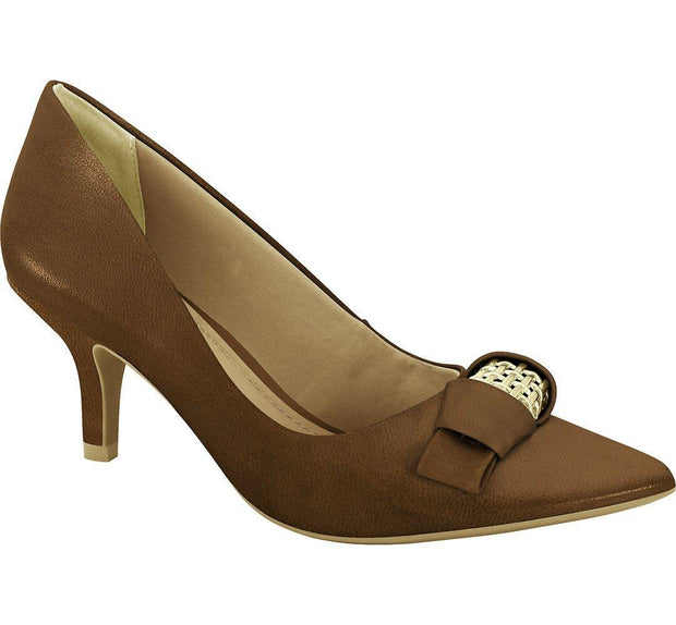 Ramarim 16-26253 Pointy Toe Low Heel Pump in Brown Napa