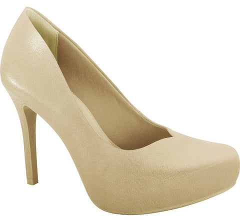Ramarim 16-40251 High Heel Platform Pump in Almond Napa