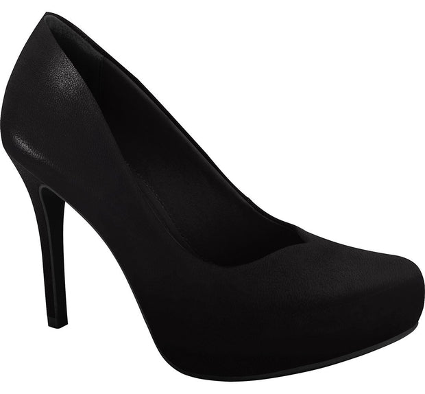 Ramarim 16-40251 High Heel Platform Pump in Black Napa