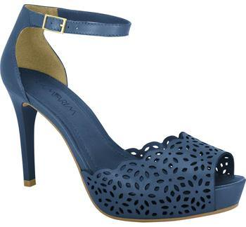 Ramarim 16-47151 Ankle Strap Heel in Navy