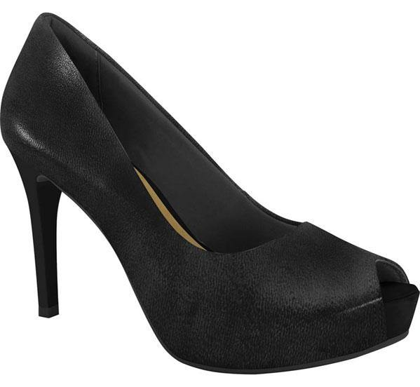 Ramarim 16-47152 High Heel Platform Peeptoe in Black Napa