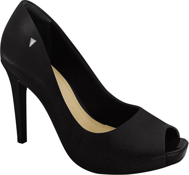 Ramarim 16-47252 High Heel Classic Peeptoe in Black Napa