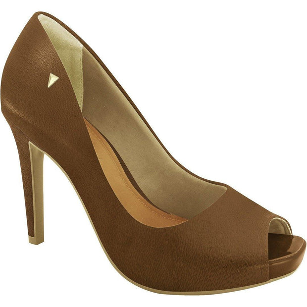 Ramarim 16-47252 High Heel Classic Peeptoe in Brown Napa