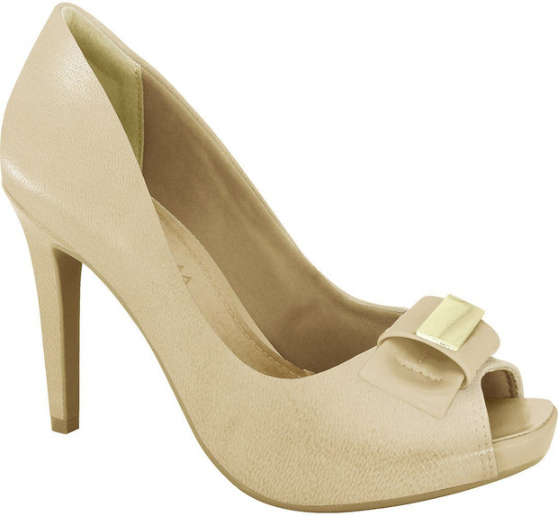 Ramarim 16-47253 Peeptoe Pump in Almond Napa