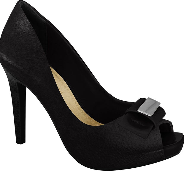 Ramarim 16-47253 Peeptoe Pump in Black Napa