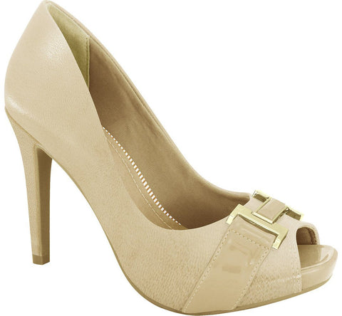 Ramarim 16-47254 High Heel Peeptoe in Almond Napa