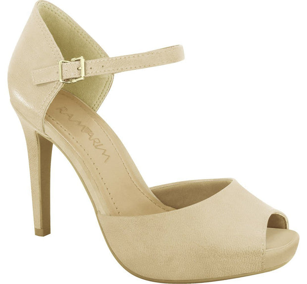 Ramarim 16-47255 High Heel Mary-Jane in Almond Napa