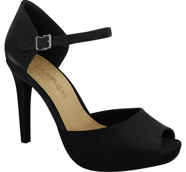 Ramarim 16-47255 High Heel Mary-Jane in Black Napa Heels Ramarim